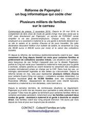 communique familles en lutte