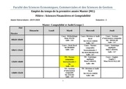 emploi du temps m1 semestre 1 sciences financieres