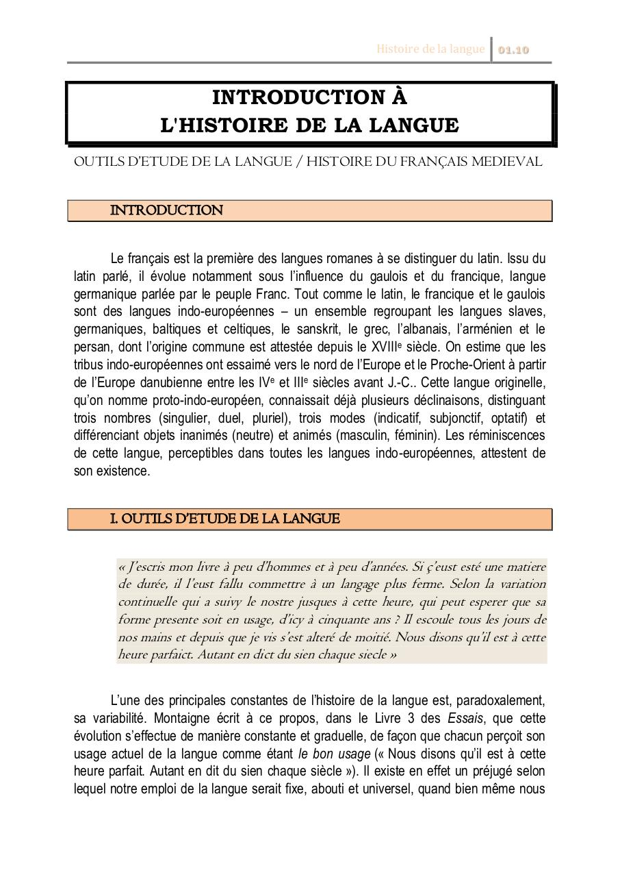 Introduction à l'Histoire de la Langue.pdf - page 1/7