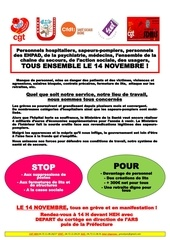 tract action du 14 novembre 2019 inter syndicale