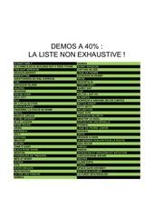 liste demos 40 1