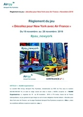 reglement jeu airpy paunewyork nov 2019