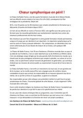 communique choeur de radio france   22 11 2019