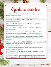 agenda de decembre et marches de noel
