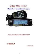 yaesu ftm 100de manue francais gm