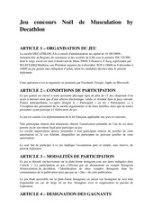 musculation by decathlon  reglement jeu concours strap training