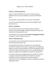 reglement jeu bilal hassani 2019