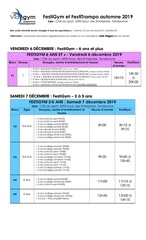 horaire festigym et festitrampo   automne 2019