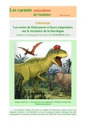 les dinosaures du perigord carnets nat d raymond 2019