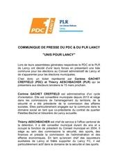 communique de presse du pdc