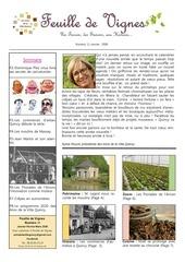 feuille de vignes  2020 janvier