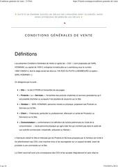 conditions generales de vente  21 pods
