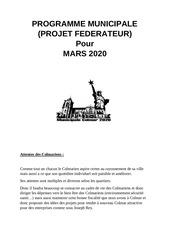 programme municipale partie 1