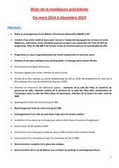 bilan de mars 2 2014 a decembre 2019