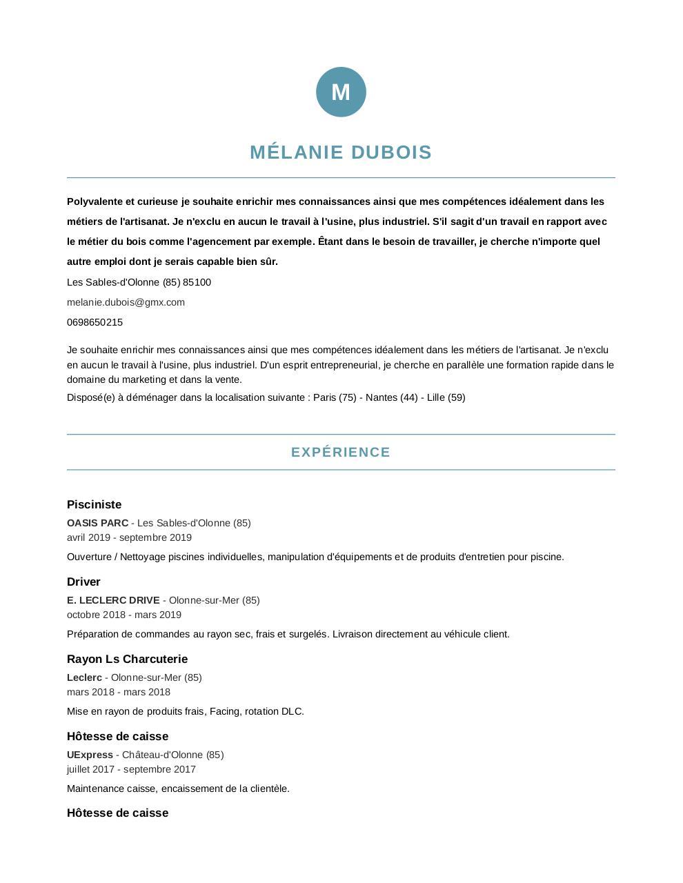 Mélanie Dubois Indeed Com Mélanie Duboiscvindeed Pdf