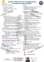 formation word avance converti