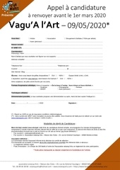 val 2020 appel a candidature