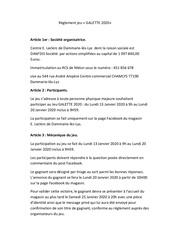reglement jeu galette 2020