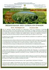03 20note desherbage des cereales dhiver du 16  janvier 2020