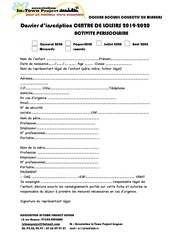 dossier dinscription 2020 acm in town proejct