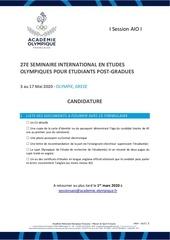 formulaire candidaturesession aio 2020 seminaire post gradues
