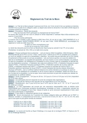 reglement trail de la mure