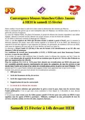 action du 15 02 2020 tract intersyndicale et gilets jaunes