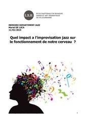 memoire jazz et cerveau mdl