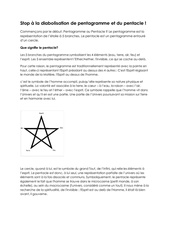 stop a la diabolisation de pentagramme et du pentacle