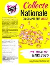 collecte nationale des restos du coeur 2020