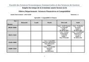 emploi du temps l3 semestre 6  sciences financieres pdf