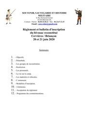 reglement  inscription au bivouac cervieres juin 2020 1