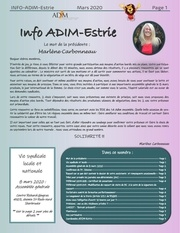 info adim mars 2020