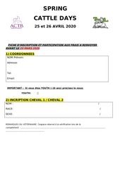 engagements concours 2020
