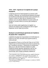 grippe espagnole mars 2020