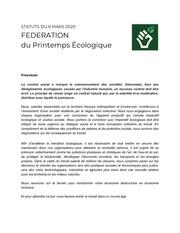 statuts federation