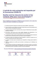 brochure fiches pratiques sur les mesures de soutien