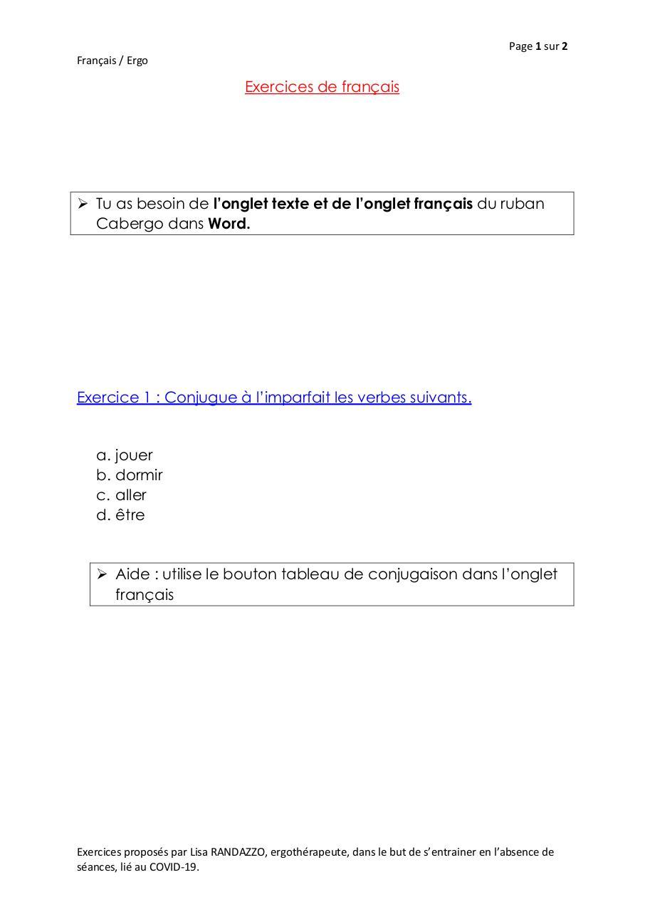 Exercices De Francais Par Lisa Randazzo Fichier Pdf