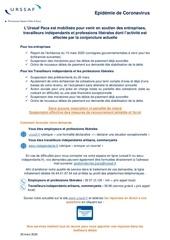 notice mesures exceptionnelles epidemie coronavirus 20 mars 2020