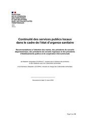 continuite des services publics 21 mars 2020