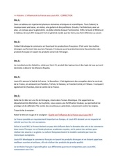 correction linfluence de la france sous louis xiv
