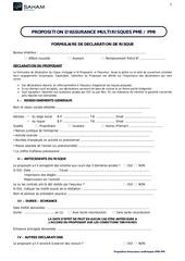 questionnaire prop multirisque pme pmi 2