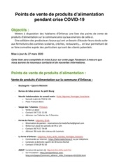 points alimentation producteurs covid 19
