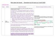 mon plan de travail du 30 mars au 3 avril cm1 cm2 b