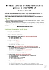 points alimentation producteurs covid 1929032020