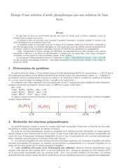 dosage h3po4 par base forte