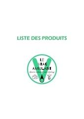 liste des produits 1