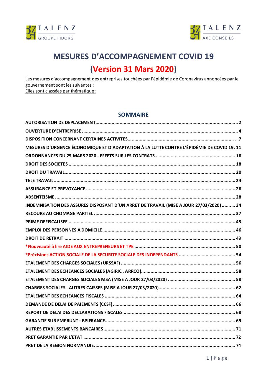 31 mars 2020 VF Mesures d'accompagnement covid-19.pdf - page 1/89