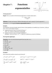 chapitre 7 fonctions exponentielles