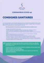 consignes sanitaires 1